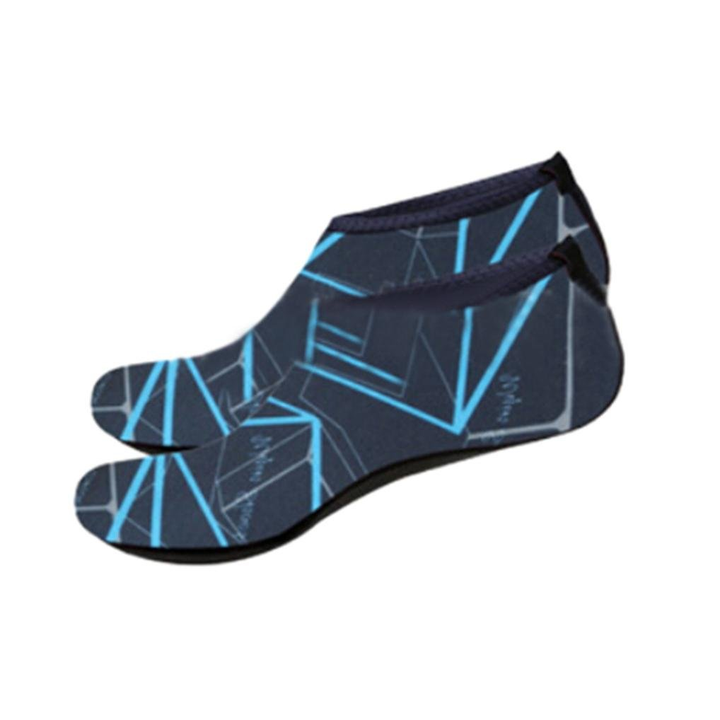 SHY Unisex Water Shoes Quick-Dry Barefoot Aqua Sport Diving Yoga Surf Beach Socks Swim Shoes B07BWKP4XX US:9-9.5|Navy