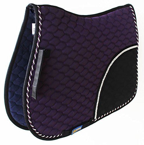 Tackus Horse Cotton Quilted All Purpose English Saddle PAD Trail Contoured Purple 72F33