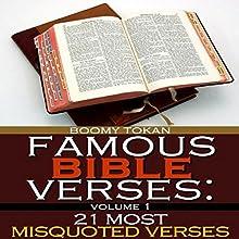 Famous Bible Verses: 21 Most Misquoted Verses, Book 1 | Livre audio Auteur(s) : Boomy Tokan Narrateur(s) : Tim Cote