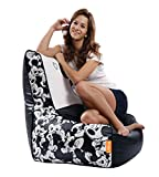 Orka Mickey Mouse Digital Printed XL Bean Chair with Beans (Multicolor)