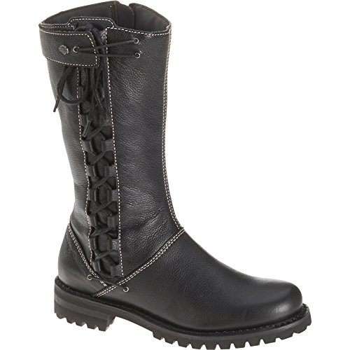 Womens Leather Motorcycle Riding Boots - 8