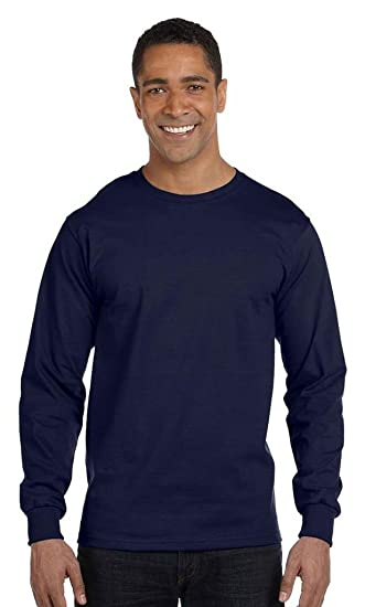 97ad03aa965856 Hanes Beefy-T - 100% Cotton Long Sleeve T-Shirt | Amazon.com