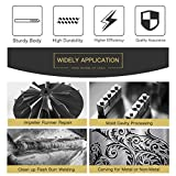 HOMEIDOL 10pcs 1/8 inches Shank Double Cut Tungsten Carbide Rotary Files Diamond Burrs Set Fits Rotary Tool for Grinder Drill, DIY Wood-working Carving, Soft Metal Polishing, Engraving, Drilling