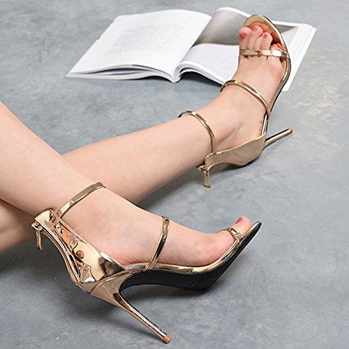 Balcon Femmes Télévision Avec EU36 Romaine Et Bien Chaussures Heel Shoes SHOESHAOGE High Nuit Avec Sandales Couleur wxWOCB8