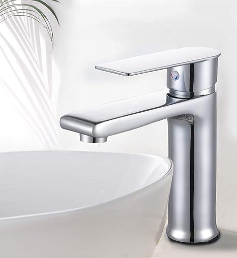 seule poign/ée Laiton robinet deau froide Robinets de salle de bain Jardin Barre de lavabo pour robinets finition chrome