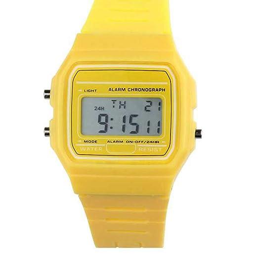 Niños Digital Relojes Deportivos,Niños Impermeable Deporte Reloj con Alarma Cronómetro, Niños Al Aire Libre Deportes Digital Noche LED Cuarzo Claro Alarma ...