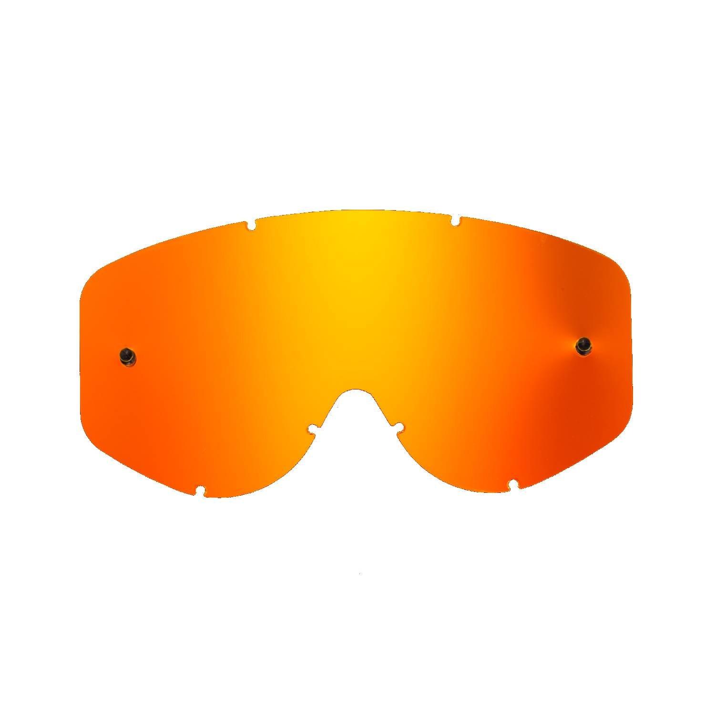 SeeCle 415176 lenti di ricambio per maschere verde specchiato compatibile con maschera Scott 83/89 / Recoil / 89 Xi