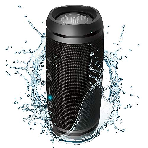 (TREBLAB HD7 - Small Premium Bluetooth Speaker - Pure 360°HD Wireless Surround Sound, 12W Loud Powerful Bass, Best for Outdoor Events and Sports & Cycling, Waterproof IPX6, Rugged Bocinas Portable)
