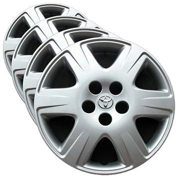 OEM genuino Toyota Rueda Cover - 15-inch Factory repuesto Tapacubos para Corolla 2005 - 2008 (Set de 4 fundas para ruedas de profesionalmente ...