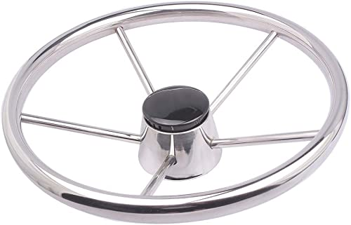 <span>Stainless Steel Boat Steering Wheel</span> for Marine Yacht, Bass Boat, Sailboat [Marinebaby] Picture