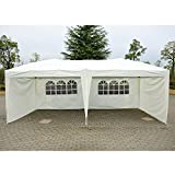 Outsunny 10x20ft Easy Pop up Party Tent Outdoor Instant Canopy Gazebo Sunshade Wedding Shelter with 4 Side Walls and Carrying Bag