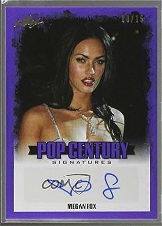 Megan Fox #/15 (Trading Card) 2015 Leaf Pop Century - [Base] - Purple #BA-MF1