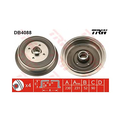 TRW DB4088 Brake Drums: