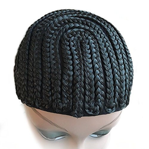 Cbwigs Braids Cap Cornrows for Easier Sew Hair Weft Designed for Those Who Suffered From Hair Loss (Large, Black horseshoe style)