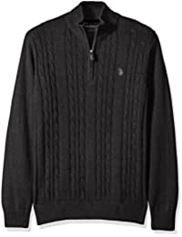 Men's Cable Knit 1/4 Zip Sweater