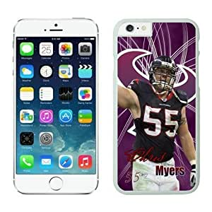 NFL Case Cover For Apple Iphone 5/5S Houston Texans Chris Myers White Case Cover For Apple Iphone 5/5S Cell Phone Case ONXTWKHB1798
