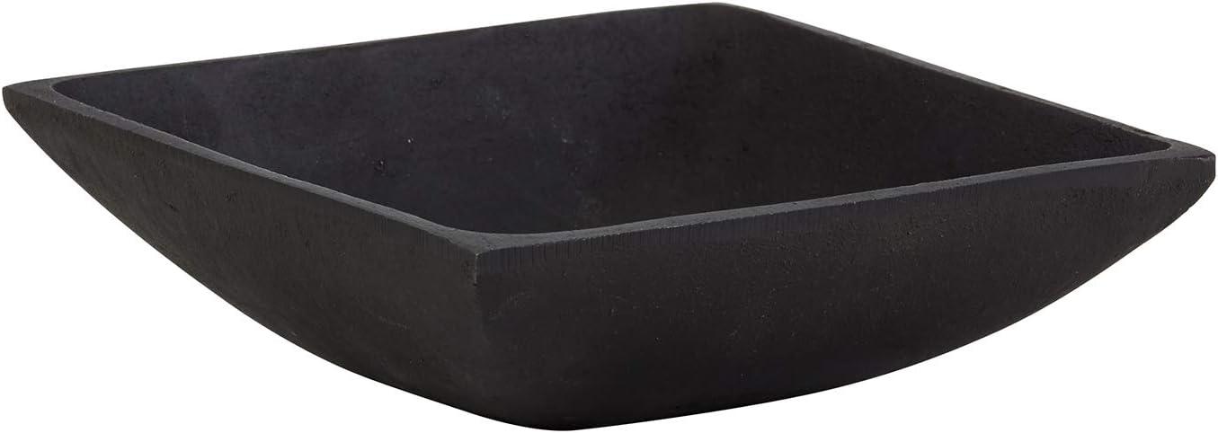 Creative Brands 47th & Main Rustic Square Bowl, Medium, Cast Iron Black