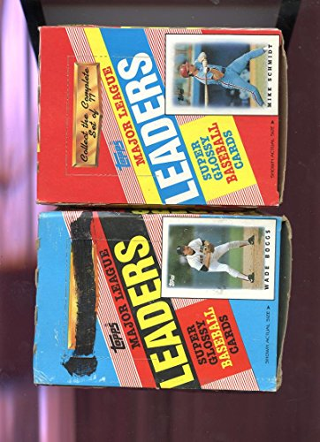 LOT TWO 1986 1988 Topps Leaders Baseball Card Wax Pack Box Probably Complete (1988 Unopened Trading Card Box)