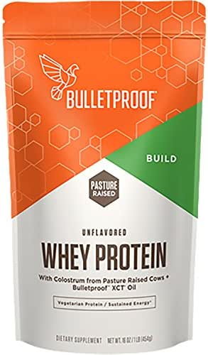 Bulletproof Whey Protein Powder, Includes XCT Oil, Helps to Promote Energy All Through The Day (16 Ounces)