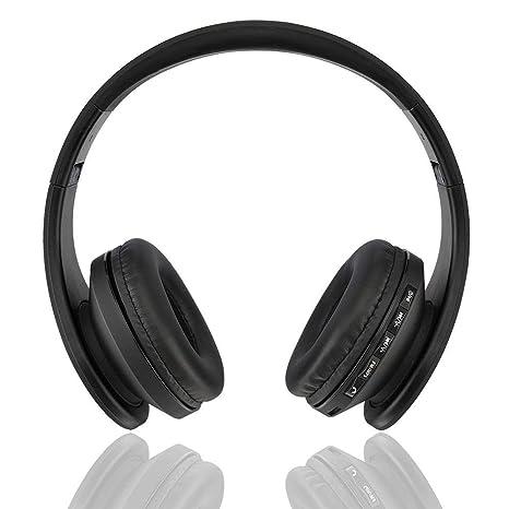 Auriculares estéreo inalámbricos Bluetooth, Fetta 4 en 1 auriculares Bluetooth mejora con tarjeta de soporte micro/SD/TF
