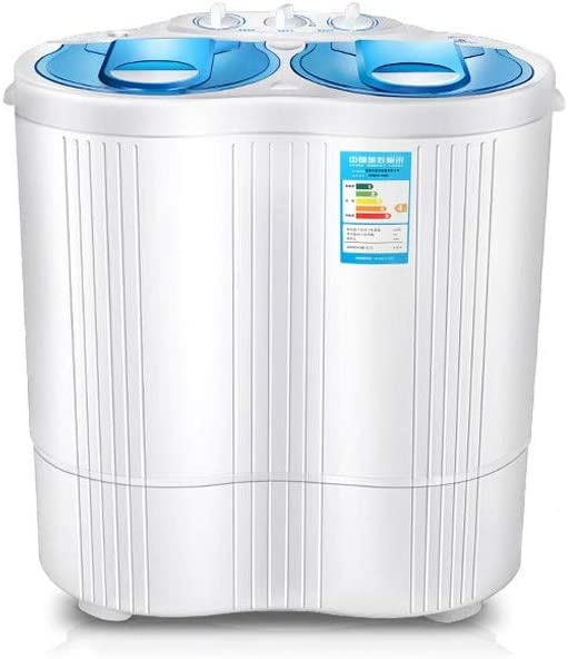 HEMFV キャンプ、アパート、寮、大学ルーム、RVの多くのために/ウォッシュとスピンサイクルワット半自動ポータブルコンパクトなミニツイン浴槽洗濯機