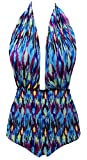 Women'S Cutout Bandeau One Piece Swimsuit Bathing Suit Stripes 2XL(US 16-18)