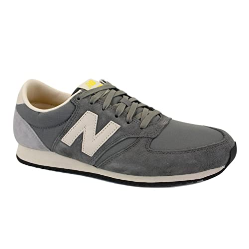 New Balance 420 U420UKG Womens Laced Suede & Nylon Trainers Grey 7UK