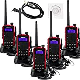 Retevis RT5 Dual Band Two-Way Radio 7W VHF/UHF 136-174/400-520 MHz 128CH DTMF/CTCSS VOX FM Ham Radio(5 Pack) and Programming Cable