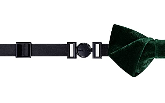 cc2f7fa15328 Image Unavailable. Image not available for. Color: Wsysnl Dark Green Velvet  Hand Made Bow Tie