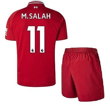 new concept a625b 6ca48 Kids Liverpool Home Jerseys #11 M Salah Jerseys 2018-2019 Soccer Jersey Red  (XL)