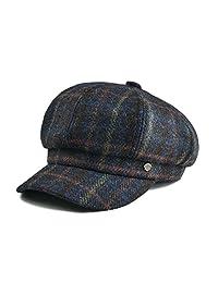 VOBOOM Womens Visor Beret Newsboy Hat Cap for Ladies 100% Wool Tweed