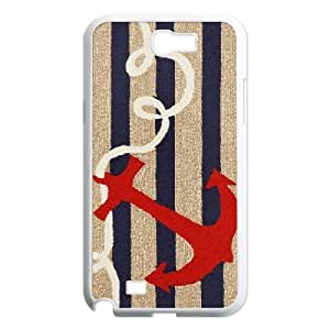 Samsung Galaxy Note 2 N7100 phone Case Navy Stripes Anchor Protective Cell Phone Cases Cover DFG132148