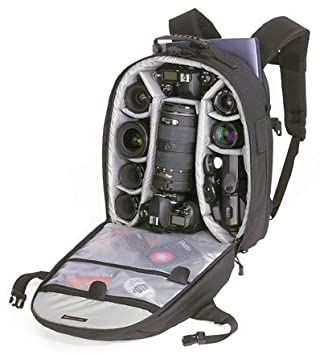 Amazon.com : Lowepro CompuTrekker AW Camera Backpack -Black ...