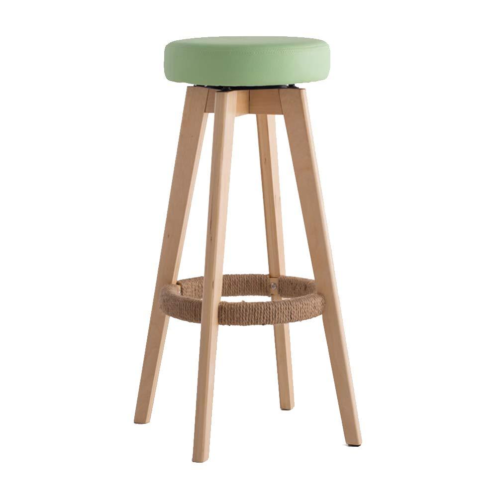 いす バーチェア、バースツール手巻きひも無垢材椅子脚家庭用バーカウンター回転チェア2サイズ (色 : C, サイズ さいず : 45*45*65.5CM) B07MFH2KWX C 45*45*65.5CM