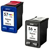 Prestige Cartridge Compatible Ink Cartridges Replacement for HP 56 / HP 57 - Black/Colour (Pack of 2)