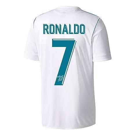 Player Print - adidas Performance Real Madrid casa Camiseta de Ronaldo 7  2017 2018 (Reproductor 7139f973318d6