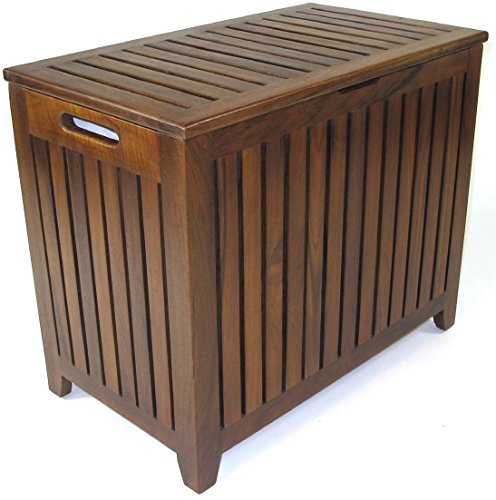 Redmon Genuine Vanity Style Hamper, Wood Grain Teak by Redmon