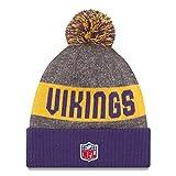 New Era Knit Minnesota Vikings Purple On Field Sideline Sport Knit Winter Stocking Beanie Pom Hat Cap 2015