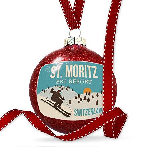 Christmas Decoration St. Moritz Ski Resort - Switzerland Ski Resort - Glasses Moritz
