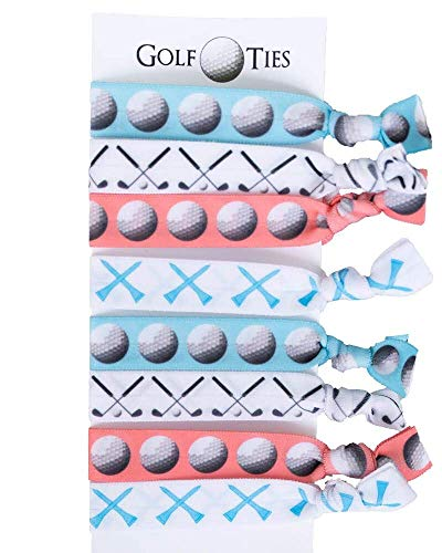 Golf Gift, 8 piece Hair Elastic Set - Accessories for Women, Players, Girls, High School Teams, Coaches, Leagues, Opponents, Partners, Tournaments -MADE IN THE USA]()