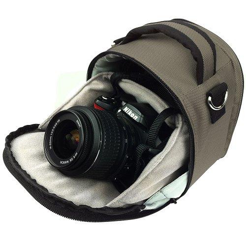 - Entry Level Digital SLR & SLR Camera Case, Flip out design (SILVER Laurel Luxury Case) Guaranteed to fit Any DSLR & SLR Camera