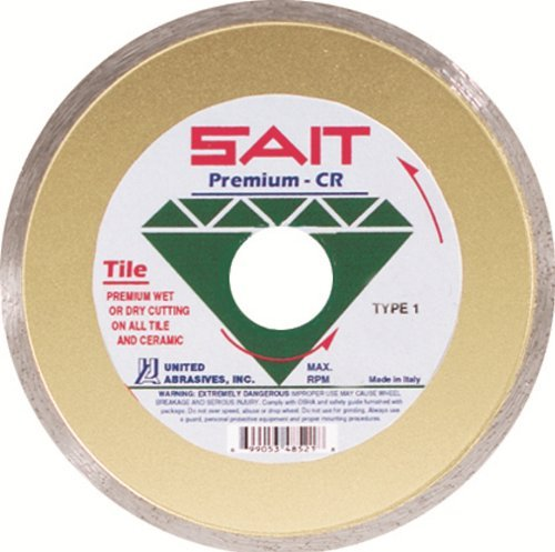 United Abrasives-SAIT 48521 4-1/2 by .060 by 5/8 C. Tile CR Diamond Cutting Wheel, 1-Pack