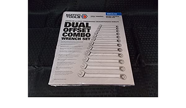 Matco Tools 12 Piece Dual Offset Combo Wrench Set, Size: 8-19MM, Part #SMCOL122 - - Amazon.com