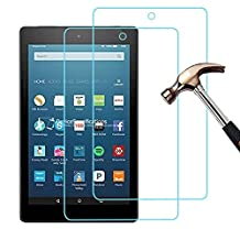 [Pack of 2] New Fire HD8 2016 Maximum Protection Screen Protector, Gzerma Shatter-Proof Easy Installation Bubble Free Protective Film for Amazon Kindle New Fire HD 8 inch Display Tablet