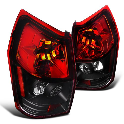 05RJM-TM Dodge Magnum Se Sxt Rt Wagon Black Housing Red Lens Tail Lights (Wagon Tail Light Lens)
