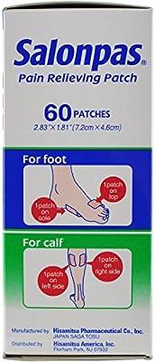 Salonpas Pain Relieving Patches,  60 Count