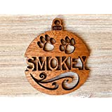 Personalized Cat's Name 2018 Solid Wood Christmas Ornament