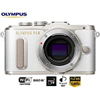 Olympus PEN E-PL8 16.1MP Wi-Fi White Mirrorless Digital Camera Body V205080WU000B - (Certified Refurbished)