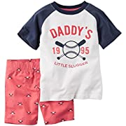 Carter's Baby Boys' 2 Pc Playwear Sets 229g132, Ivory, New Born