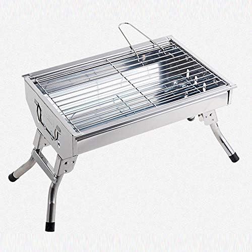 Winter Barbecue au Charbon de Bois, Petit Barbecue Portable Pliant en Acier Inoxydable, adapté à la Cuisine en Plein air Camping randonnée Pique-Nique Famille Grill